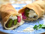 Fresh Herb Falafel Pita Wrap Recipe