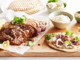 Garlic lamb with naan recipe