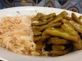 Green beans stew (loubyeh w rez) recipe
