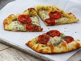 Grilled Pizza with Za'atar, Tomatoes & Fresh Mozzarella Recipe