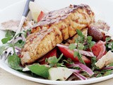 Harissa fish with fattoush recipe