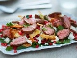 Herb and spiced lamb salad recipe