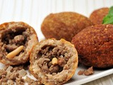 Kibbeh(Meat Cracked Wheat Fritters) Recipe