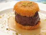 Knafeh with chocolate recipe