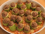 Kousa with kofta (Stuffed Zucchini with kofta) Recipe