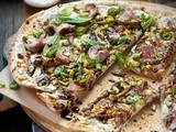 Lamb and pistachio pizzas with pomegranate molasses recipe