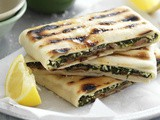 Lamb, cheese and spinach gözleme recipe