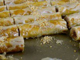 Lebanese Almond Baklawa Fingers Recipe
