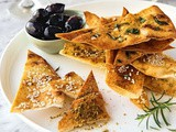 Lebanese bread crisps - 3 ways