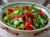 Lebanese Cucumber & Tomato Salad with Mint Recipe