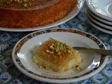 Lebanese Knafeh Jibneh with Orange Blossom Syrup Recipe