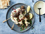 Lebanese skewers with charred cauliflower and lentil salad recipe