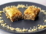 Lebanese Style Baklava with Walnuts and Pistachios Recipe