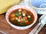 Lebanese Vegetable Soup with Chickpeas and Kale Recipe