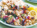 Lemon and garlic chicken kebabs recipe