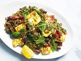 Lentil tabbouleh with haloumi recipe