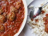 Meatballs and rice (Dawood basha)