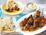 Middle Eastern chicken skewers recipe