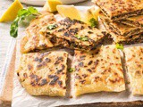 Middle Eastern stuffed flatbreads recipe