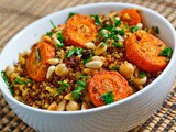 Moroccan Roasted Carrot and Chickpea Quinoa Salad Recipe