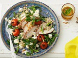 Pepper chicken and pearl couscous salad with Persian feta recipe