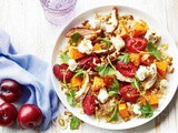 Persian chicken and roasted plum salad recipe
