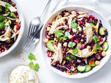 Persian-style chicken and rice salad recipe