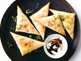 Persian sweet potato triangles recipe