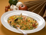 Rice with sea food and vegetables recipe