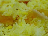 Saffron Almond Rice Recipe