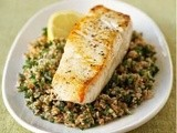 Seared Halibut on Lemon Tabbouleh Recipe