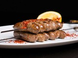 Skewered house-made Lebanese style lamb sausages with Turkish chilli flakes recipe