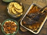 Slow-roasted lamb with jewelled yoghurt recipe