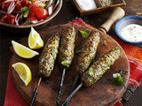 Spiced lamb koftas with mint & tomato salad recipe