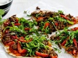 Spicy lamb flatbread pizzas recipe