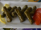 Stuffed grape leaves (vegetarian)