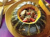 Stuffed Kabocha Squash with Arabic Lamb Stew Recipe