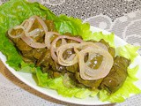 Stuffed Vine Leaves in Oil ( Warak Inab Bilzeit) Recipe