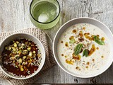 Turkish rice and lentil yoghurt soup with dukkah oil recipe