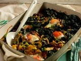 Wild greens, sucuk and eggs recipe