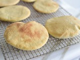 Yogurt pita bread