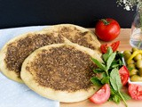 Za'atar man'ouche – flat bread with herbs recipe