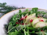 Arugula, Pear & Pomegranate Salad