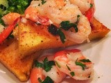 Roasted Shrimp &  Fried  Polenta