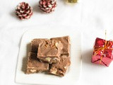Milk chocolate fudge recipe - chocolate fudge with almonds - easy chocolate fudge