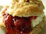 Fig Scones with Labneh & Raspberry Jam