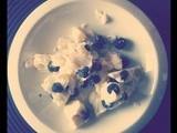 Frozen Sweet Labneh with Vanilla, Lemon & Blueberries