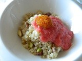 Perfect Breakfast: Sweet Bulgur with Grapefruit Pulp Frosting & Orange Blossom Water