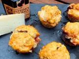 Muffins au fromage de brebis et à la confiture de cerise noire / Muffins with Sheep Cheese and Black Cherry Jam