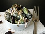 Broccoli Salad with Raisins and Sunflower Seeds